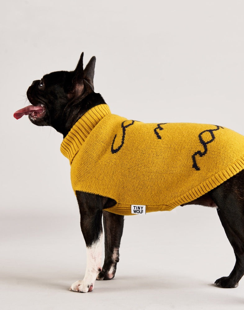 [product _vendor] Call My Name Merino Wool Dog Jumper - STYLETAILS