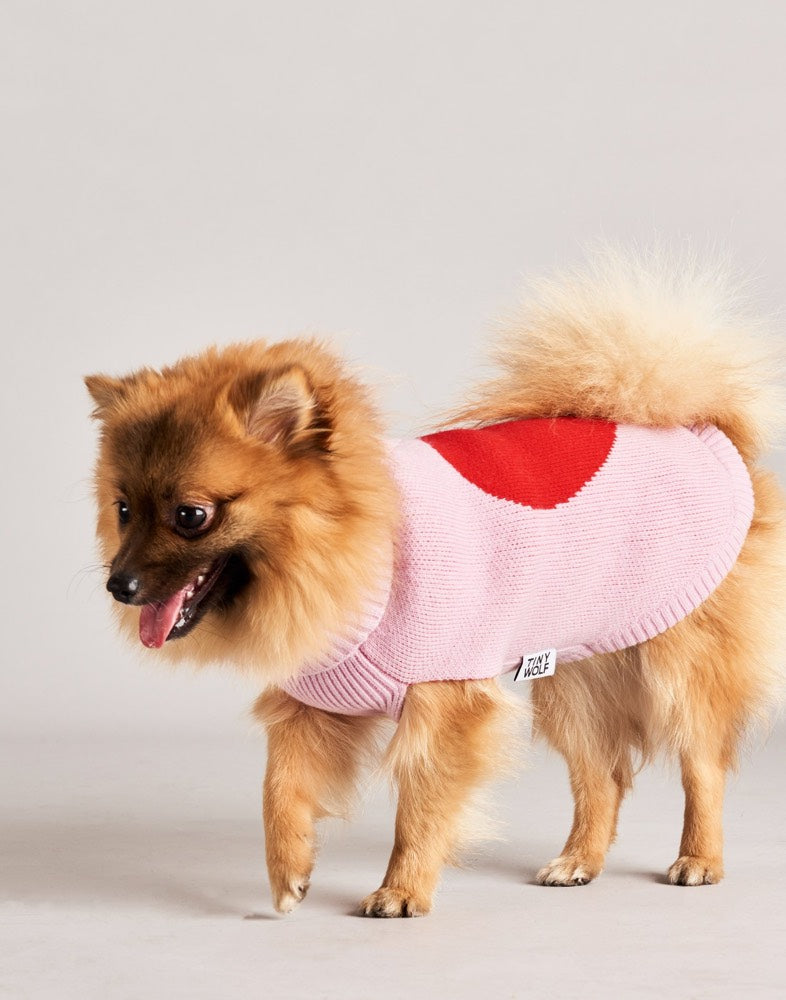 [product _vendor] Love Heart Merino Wool Dog Jumper - STYLETAILS