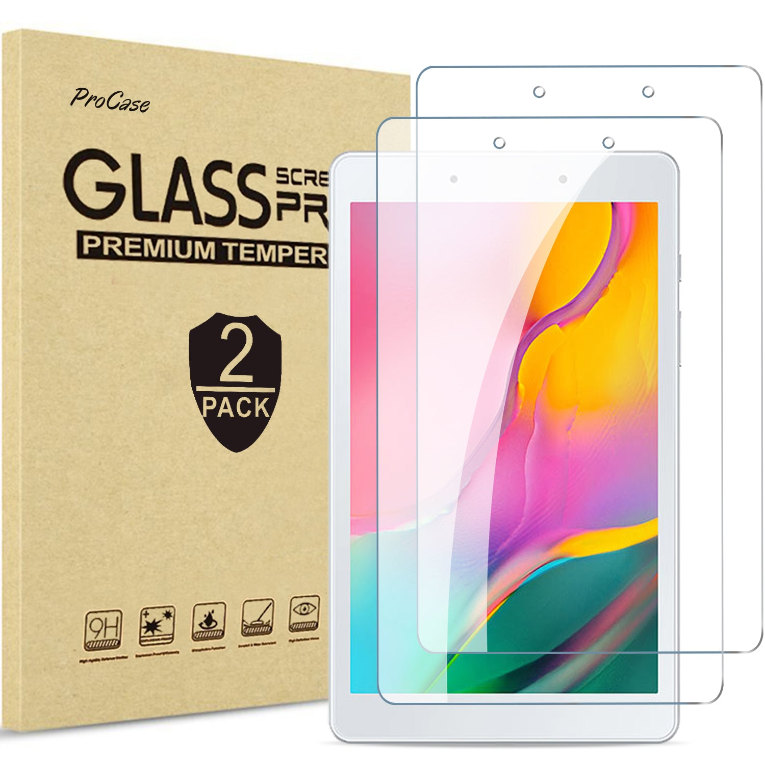 [2 Pack] Galaxy Tab A 8.0 2019 Screen Protector T290 | ProCase
