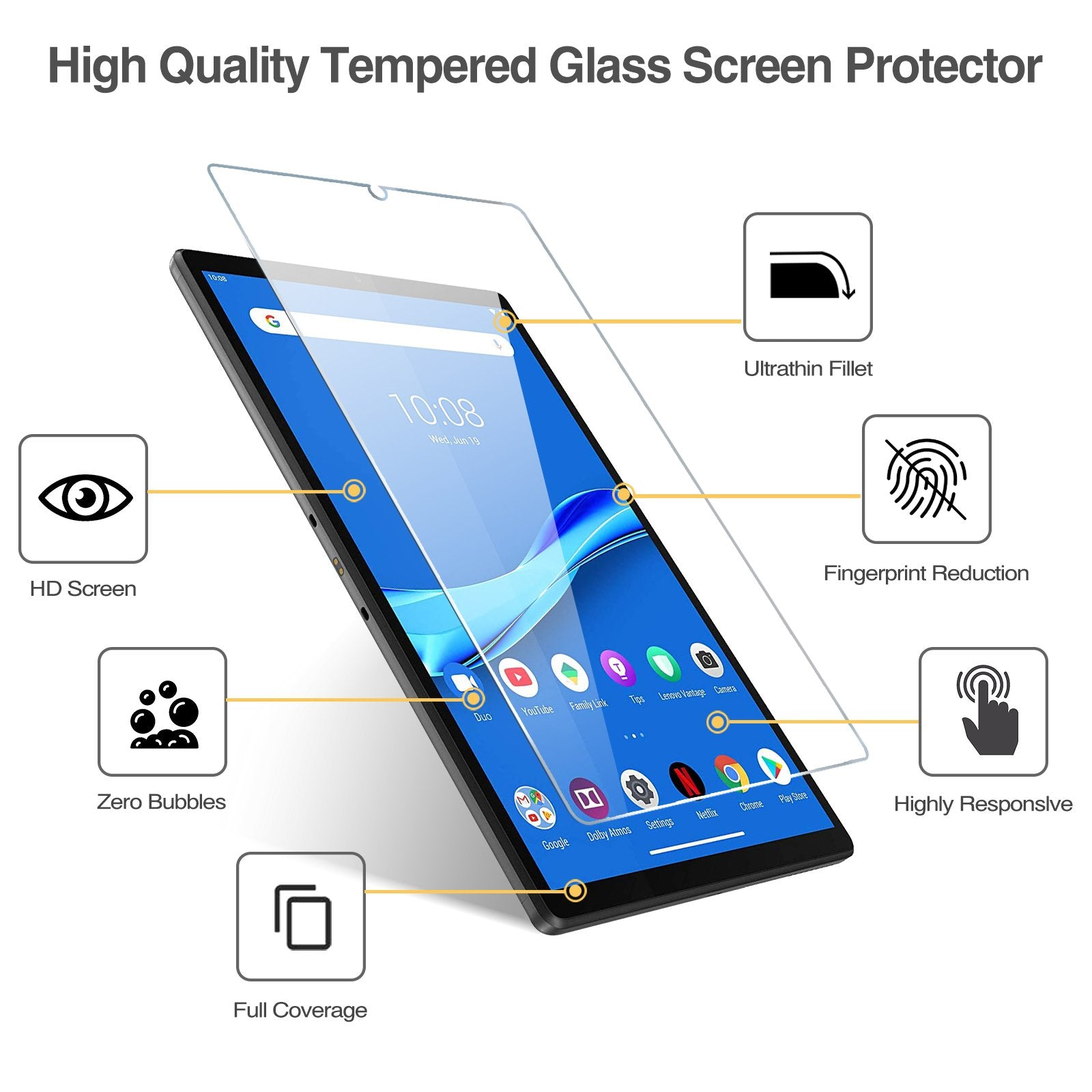 [2 Pack]Lenovo Tab M10 FHD Plus 10.3 Screen Protector | ProCase