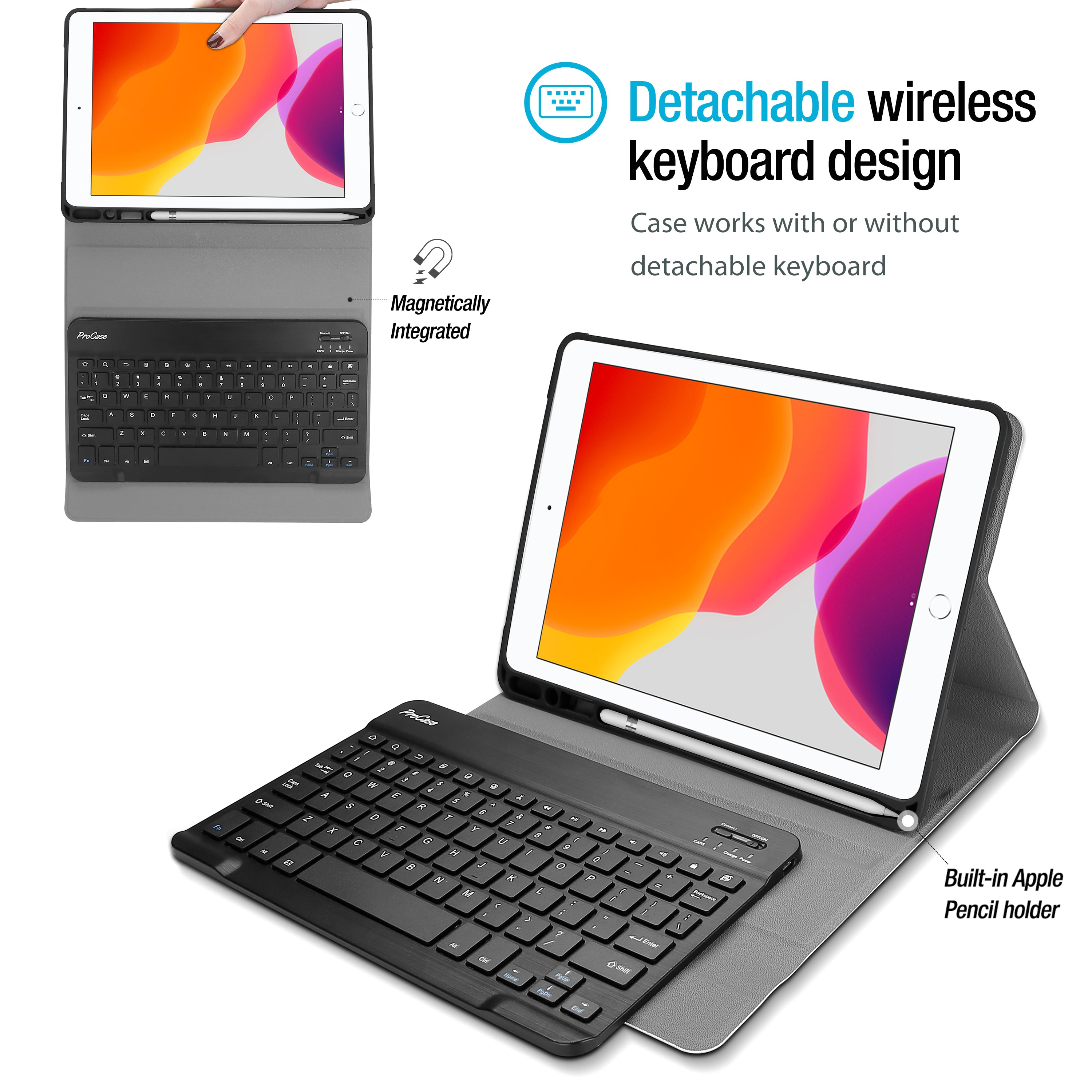 iPad 10.2 7th/8th 2019 2020 Generation Keyboard Case | ProCase