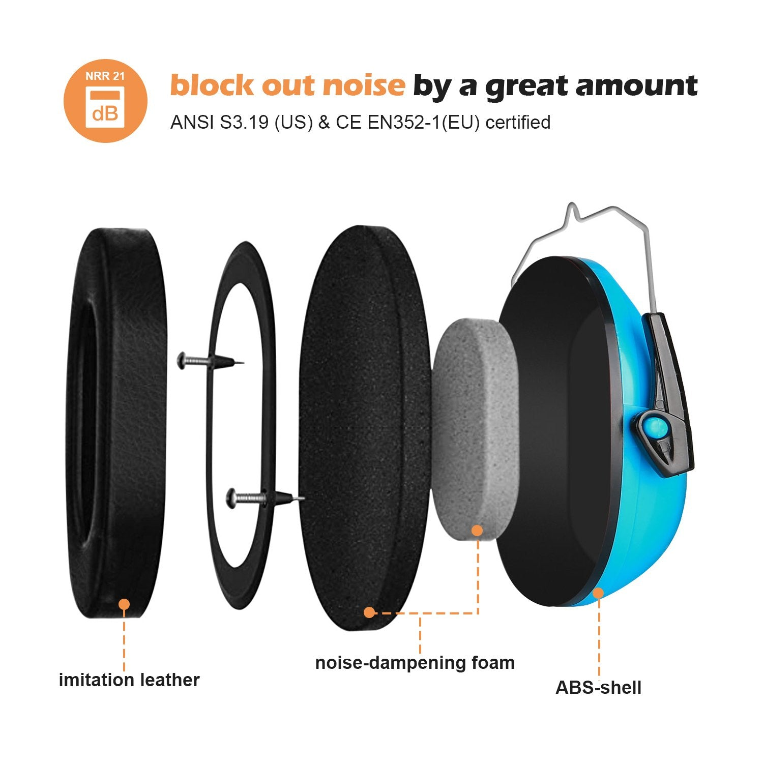 Kids Noise Reduction Cancelling Ear Muffs Hearing Protection | ProCase