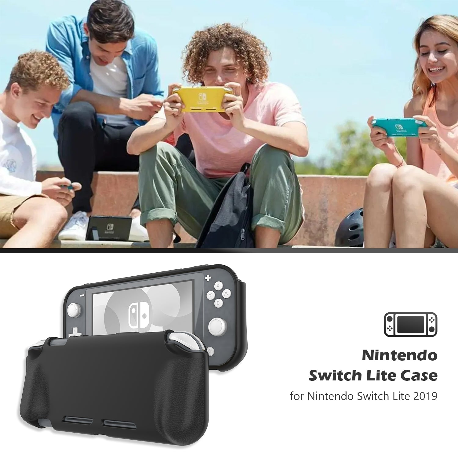 Nintendo Switch Lite 2019 Case with 2 Pack Screen Protectors | ProCase