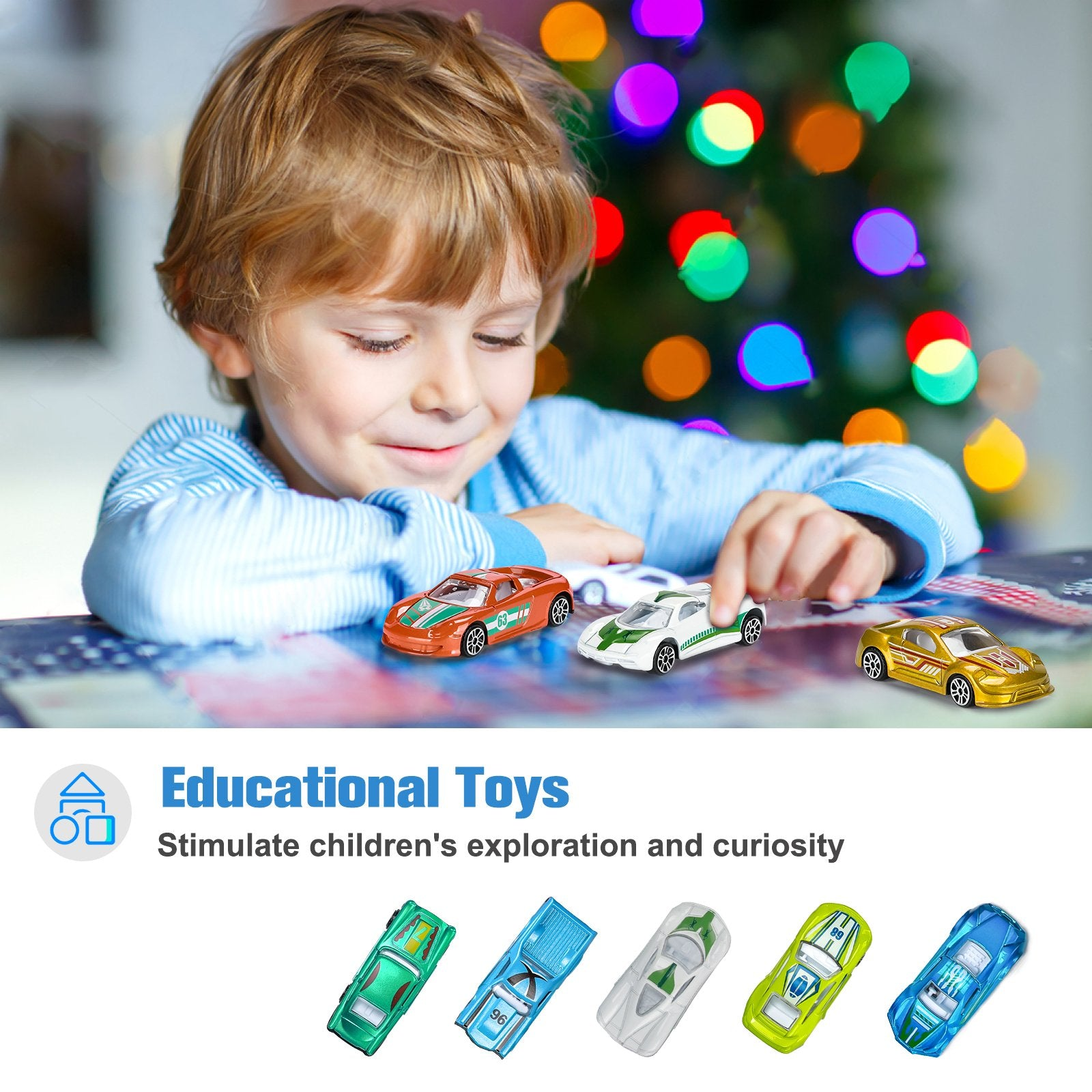 16-Pack Mini Multicolor Alloy Metal Toy Cars | Hautton