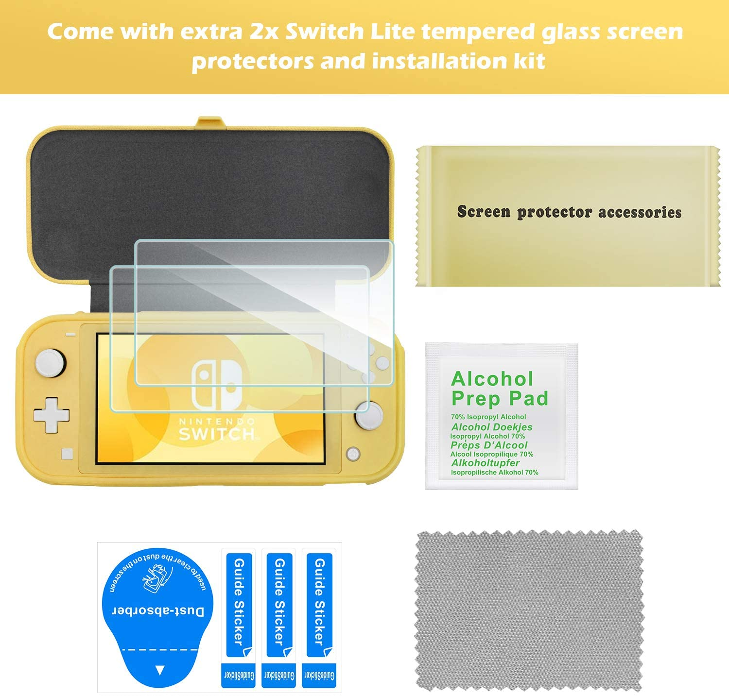 Carrying Case for Nintendo Switch Lite with Screen Protector | ProCase
