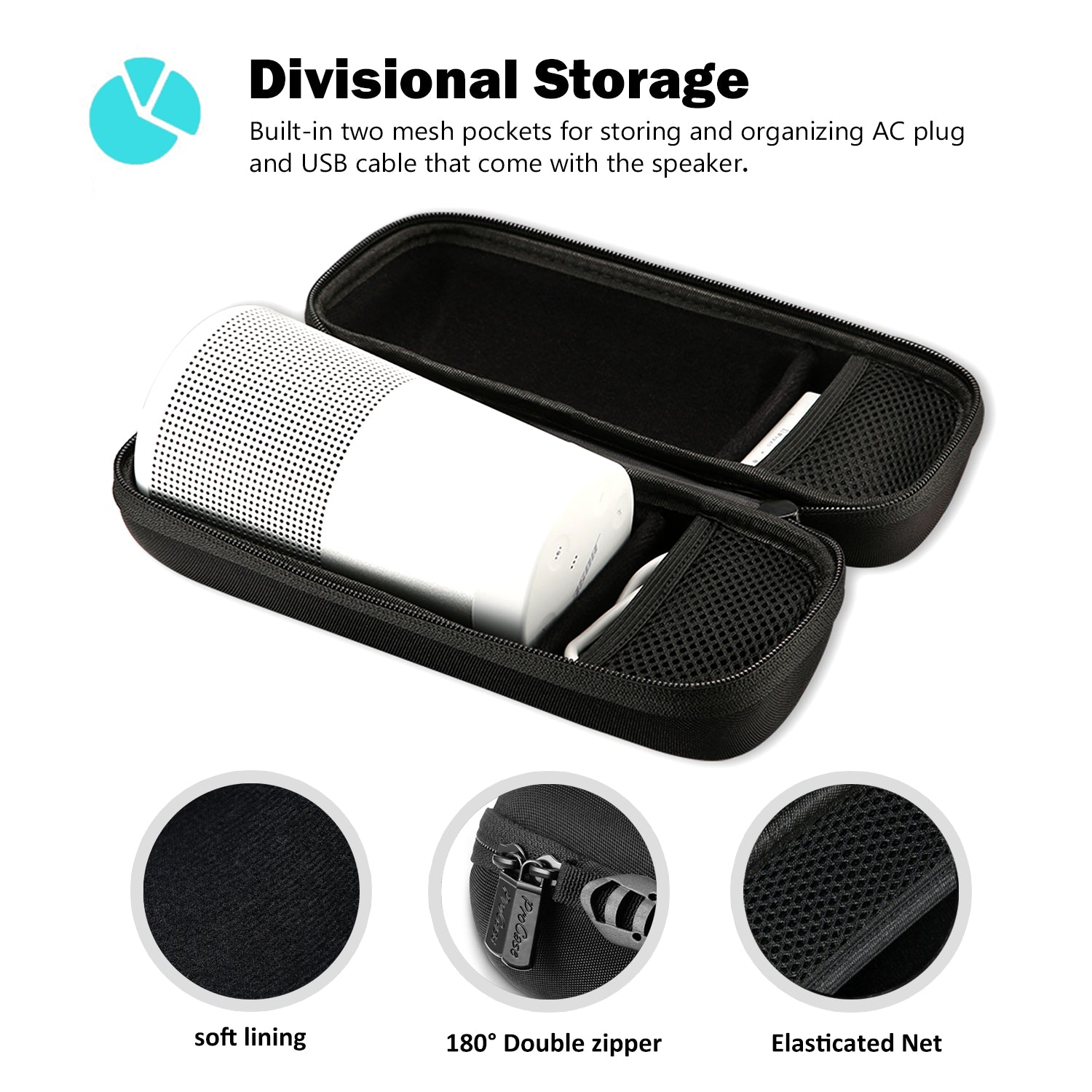 Travel Carrying Case for Bose SoundLink Revolve | ProCase