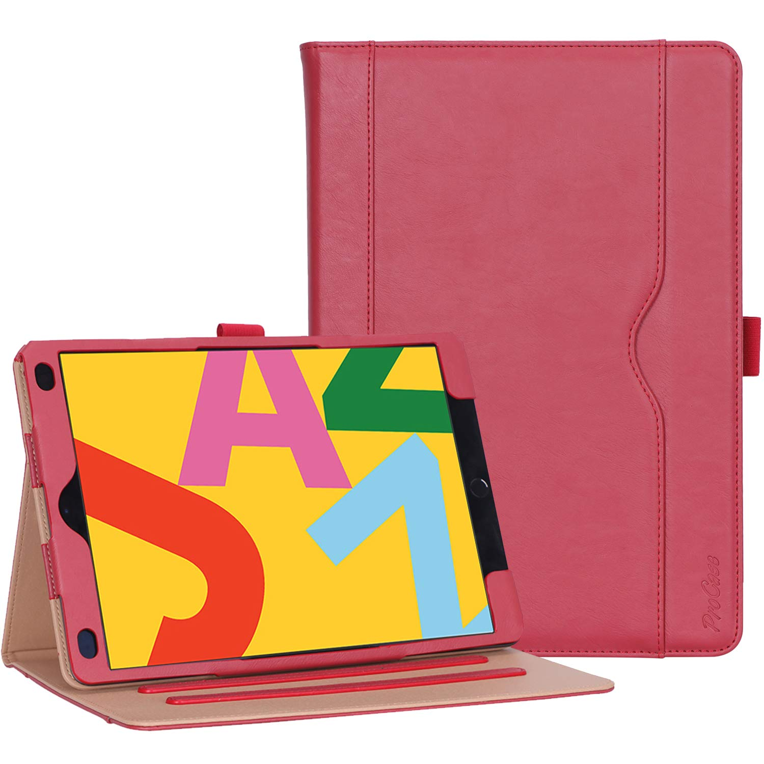 iPad 10.2 7th/8th 2019 2020 Generation Leather Folio Case | ProCase