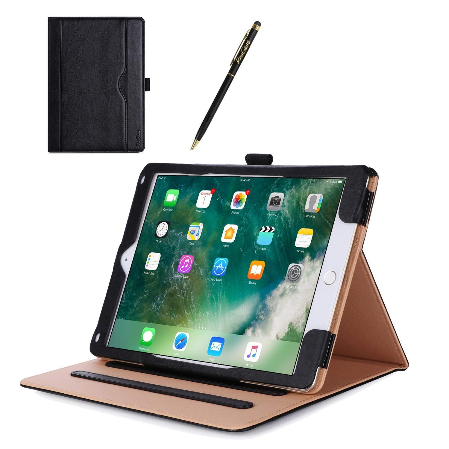 iPad 9.7 2018/2017 Leather Folio Case | ProCase