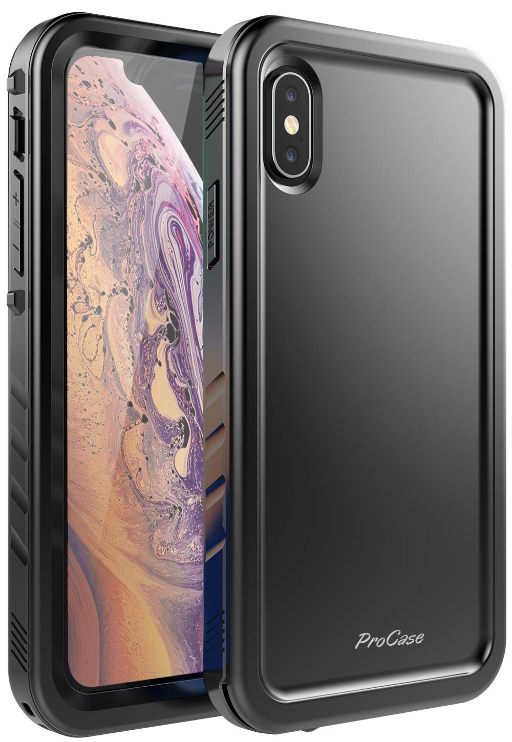 iPhone XS Max Built-in Screen Protector Heavy Duty Case | ProCase