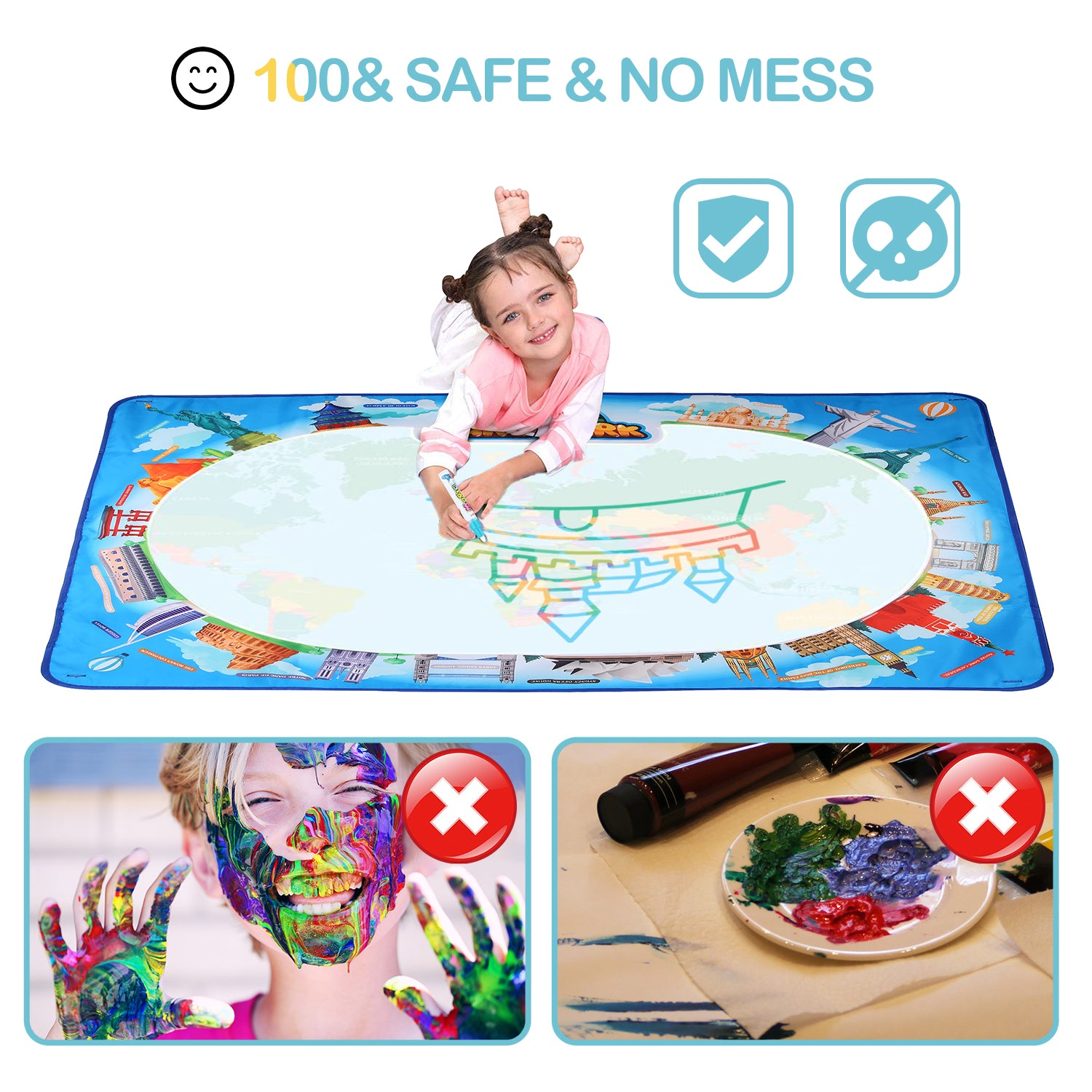 Aqua Magic Water Doodle Mat | Hautton