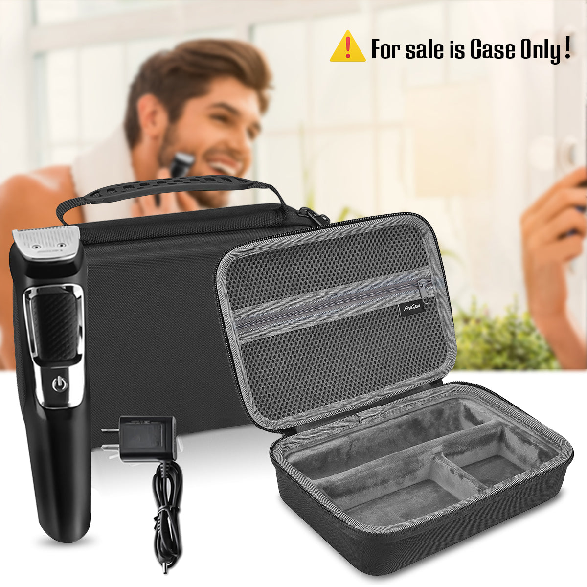 Travel Carrying Case for Philips Norelco Electric Shaver | ProCase