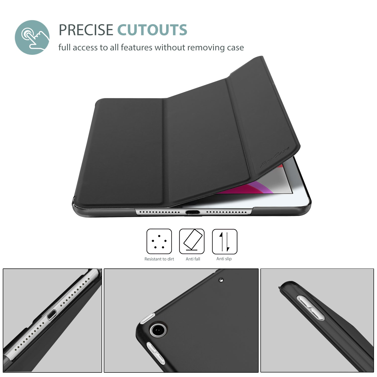 iPad 10.2 7th/8th 2019 2020 Generation Case with Screen Protector | ProCase
