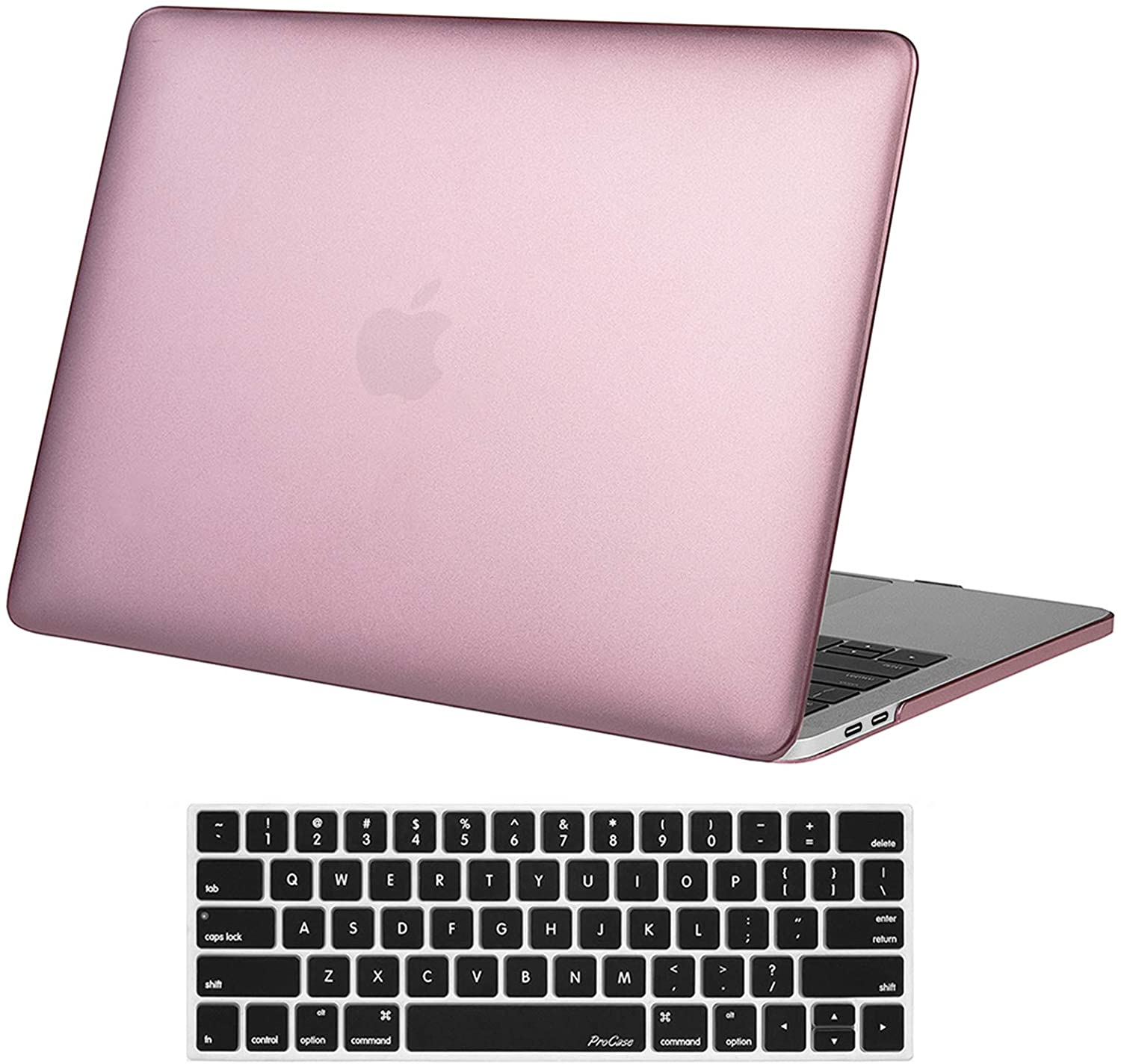 """Black ProCase MacBook Pro 13 Case 2019//2018//2017//2016 Release with//Without Touch Bar A2159 A1989 A1706 A1708 Heavy Duty Hard Shell Protective Cover with Fold Kickstand for Apple MacBook Pro 13/"""""""