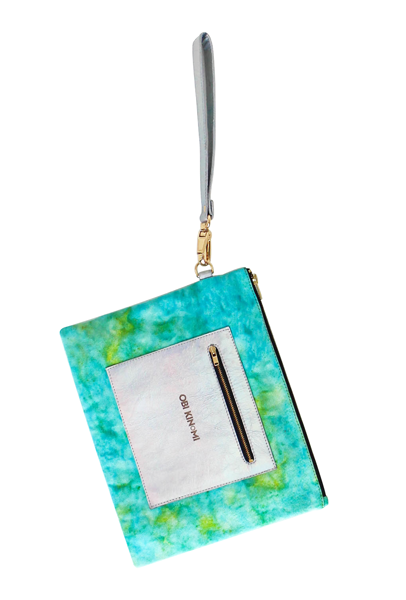 Stylish Designer Tie-dye Leather Clutch Accessory Bag