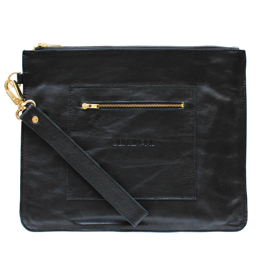 Goldie Clutch | black leather
