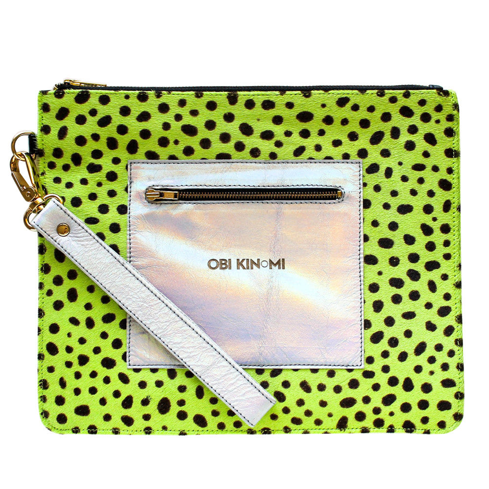Stylish Designer Leather Clutch Accessory Bag