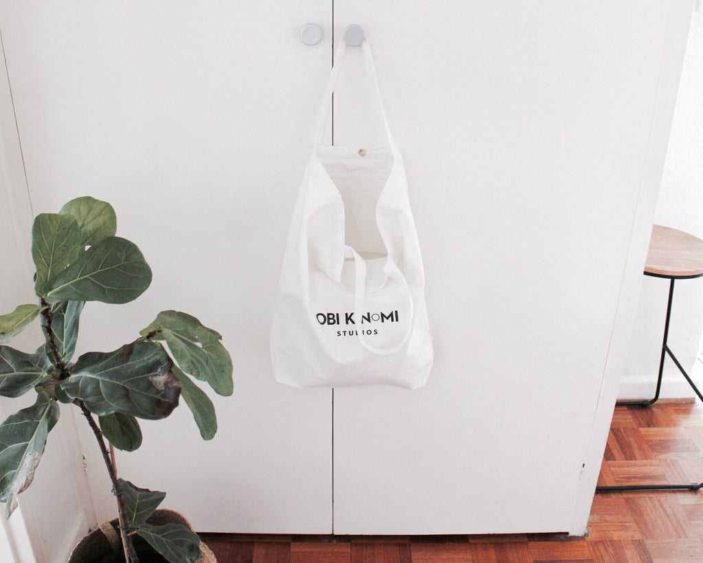 ObiKinomi Eco-friendly Organic Cotton Shopping Tote Bag