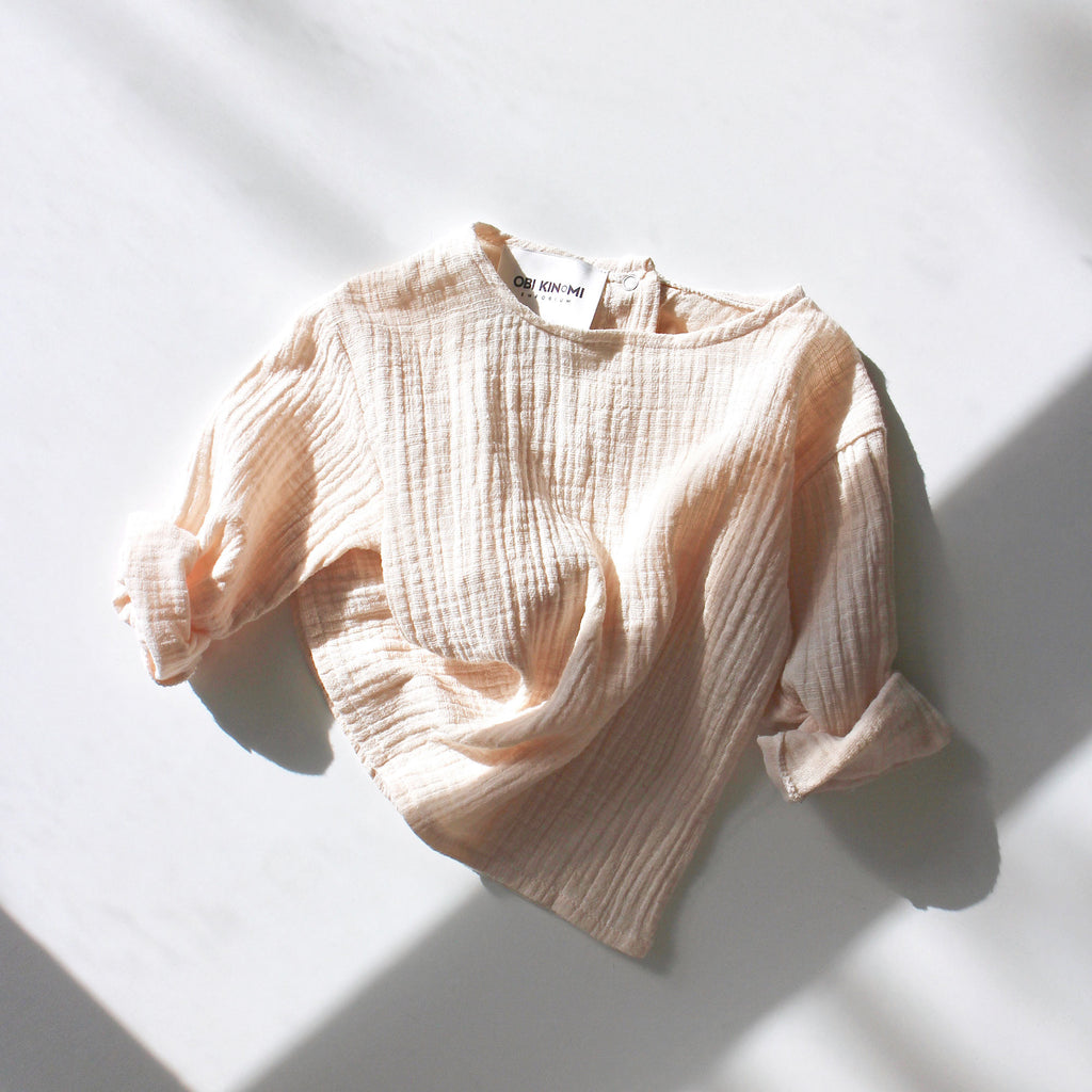 Relaxed-Fit Long Sleeve Top | Bone