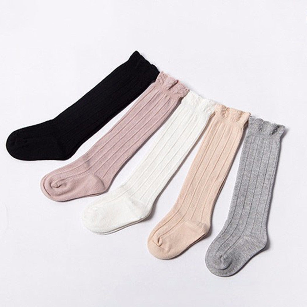 Knee-High Rib Socks | Pearl