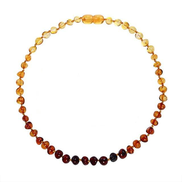 Amber Teething Necklace | Rainbow