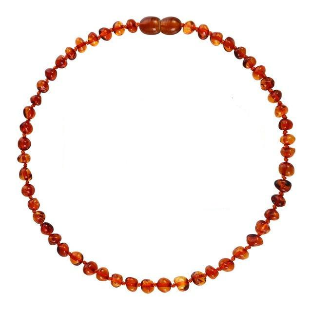Amber Teething Necklace | Whiskey