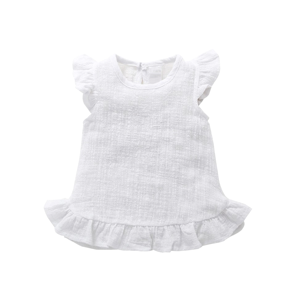 Frill Summer Top | White