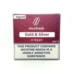 30ml Gold & Silver Tobacco Nicofresh Limited Offer