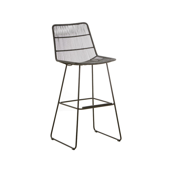 Outdoor Barstool | Granada Sleigh Light Licorice