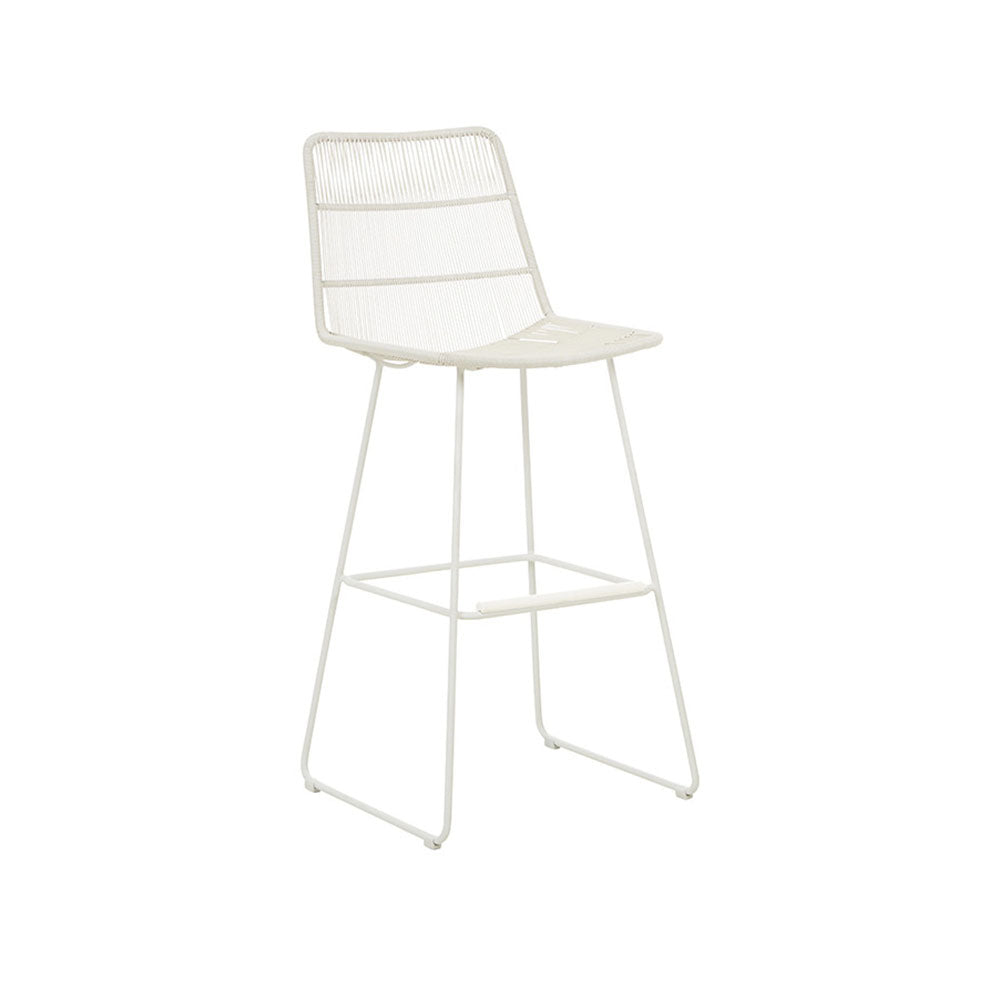 Outdoor Barstool | Granada Sleigh Light Grey