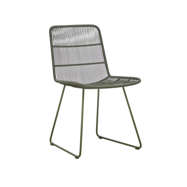Outdoor Dining Chair | Granada Sleigh Dining Chair Moss Green