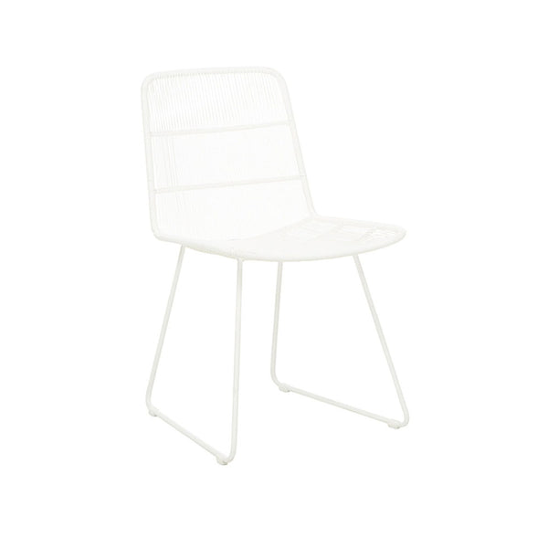 Outdoor Dining Chair | Granada Sleigh Dining Chair White