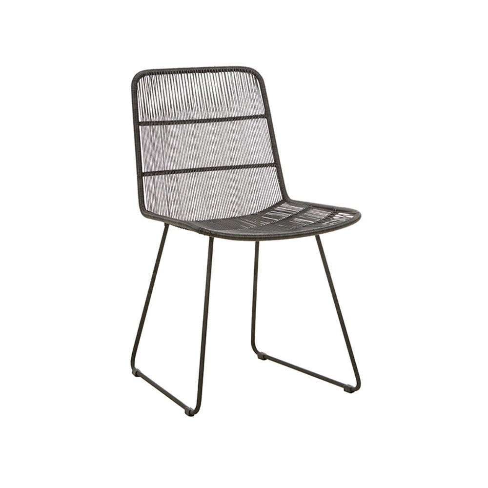 Outdoor Dining Chair | Granada Sleigh Dining Chair Licorice