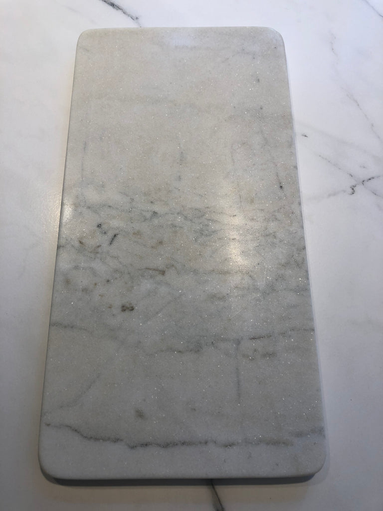 Marble Rectangle Board Grey & White