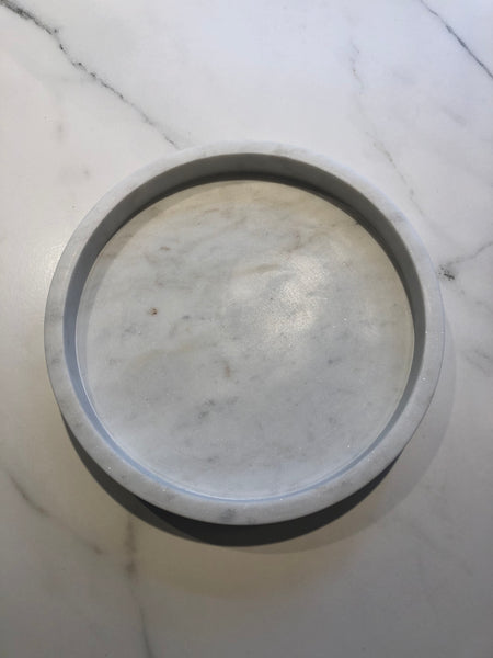 Collector Home Round Marble Tray