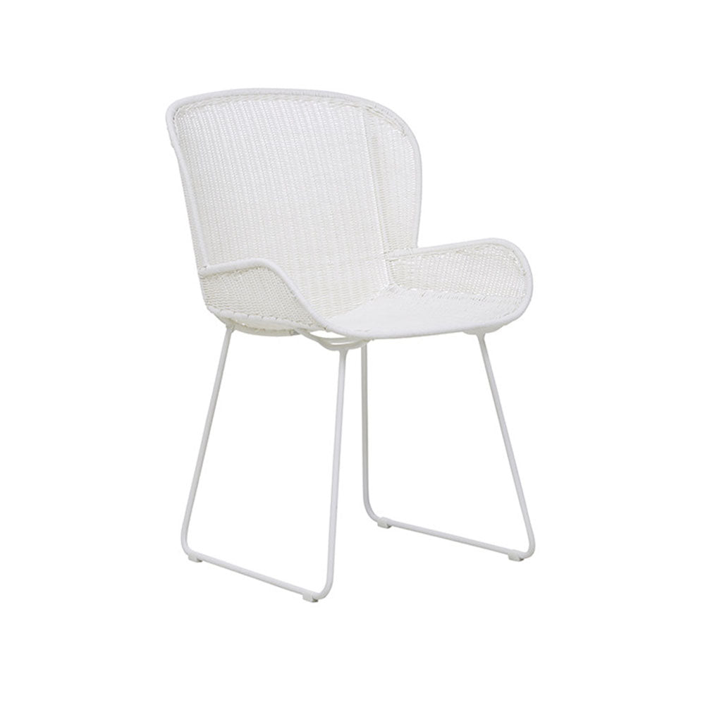 Outdoor Dining Chair | Granada Butterfly Closed Weave White
