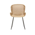 Outdoor Dining Chair |  Granada Butterfly Closed Weave Natural