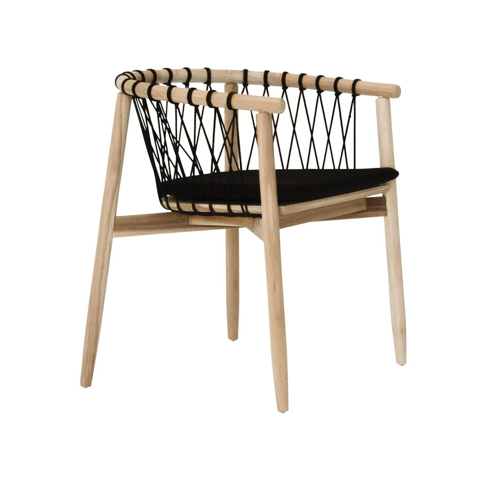Outdoor Dining Chair | Arniston Black & Teak by Uniqwa Furniture