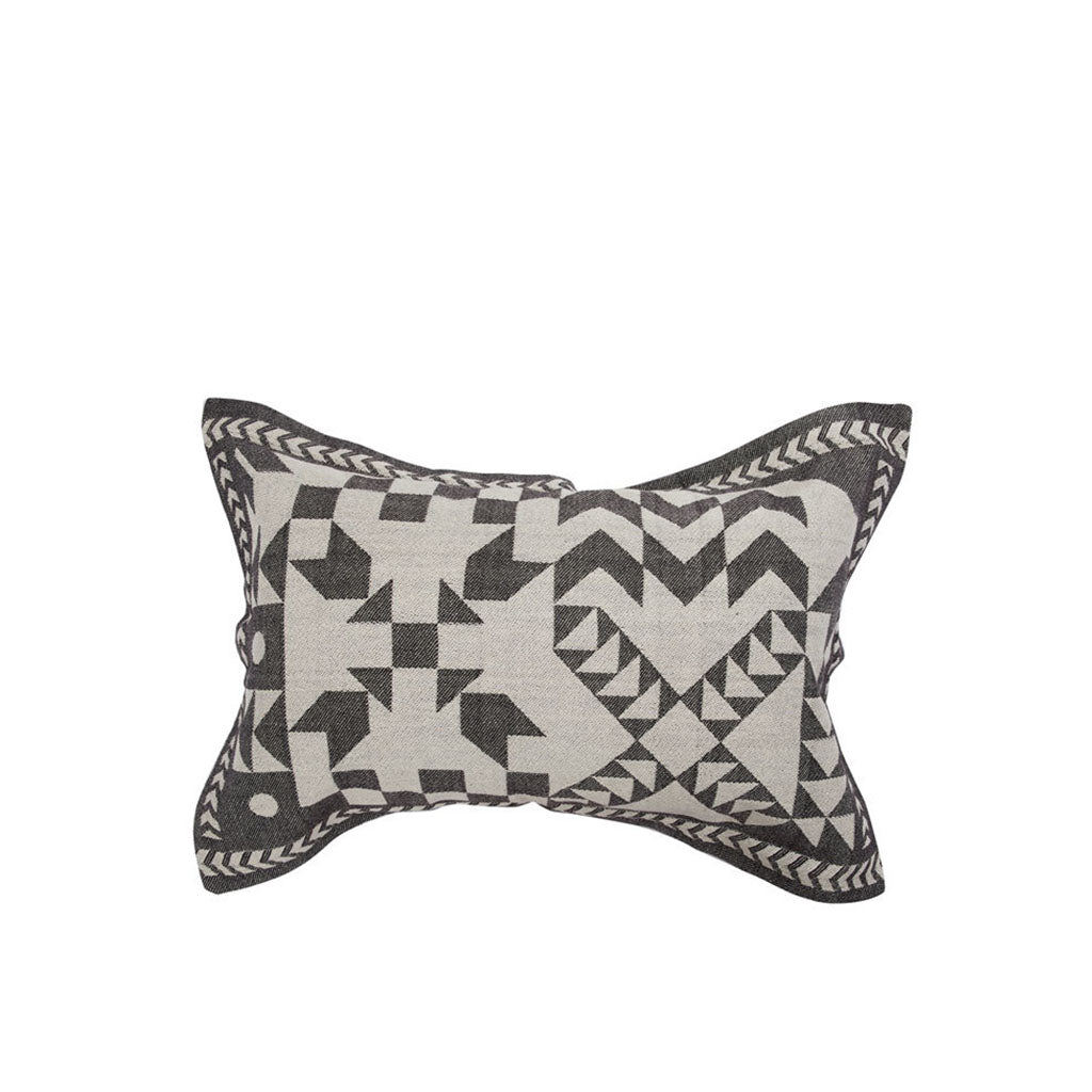Lil Patched Honour Cushion Cover Black