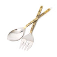 Indigo Love Stitches Salad Servers