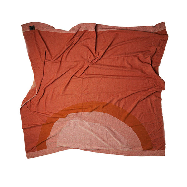 Pony Rider Morning Sunrise Blanket - Plum Desert 200*200