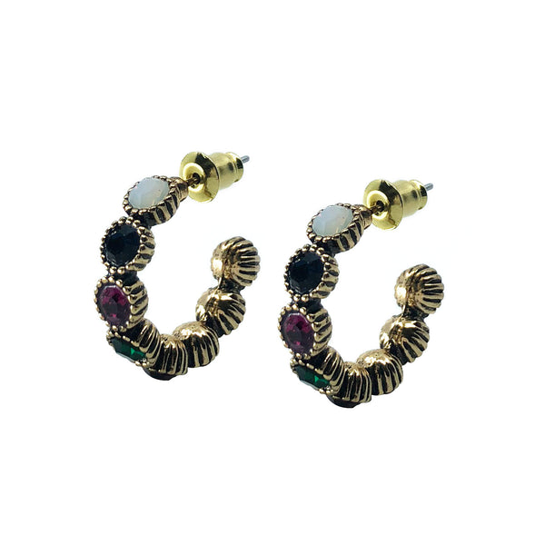 Saqui Studio Gemstone Hoop Earrings