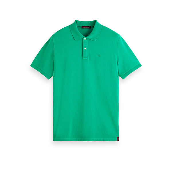 Scotch & Soda Cotton Pique Polo Shirt Paradise Green