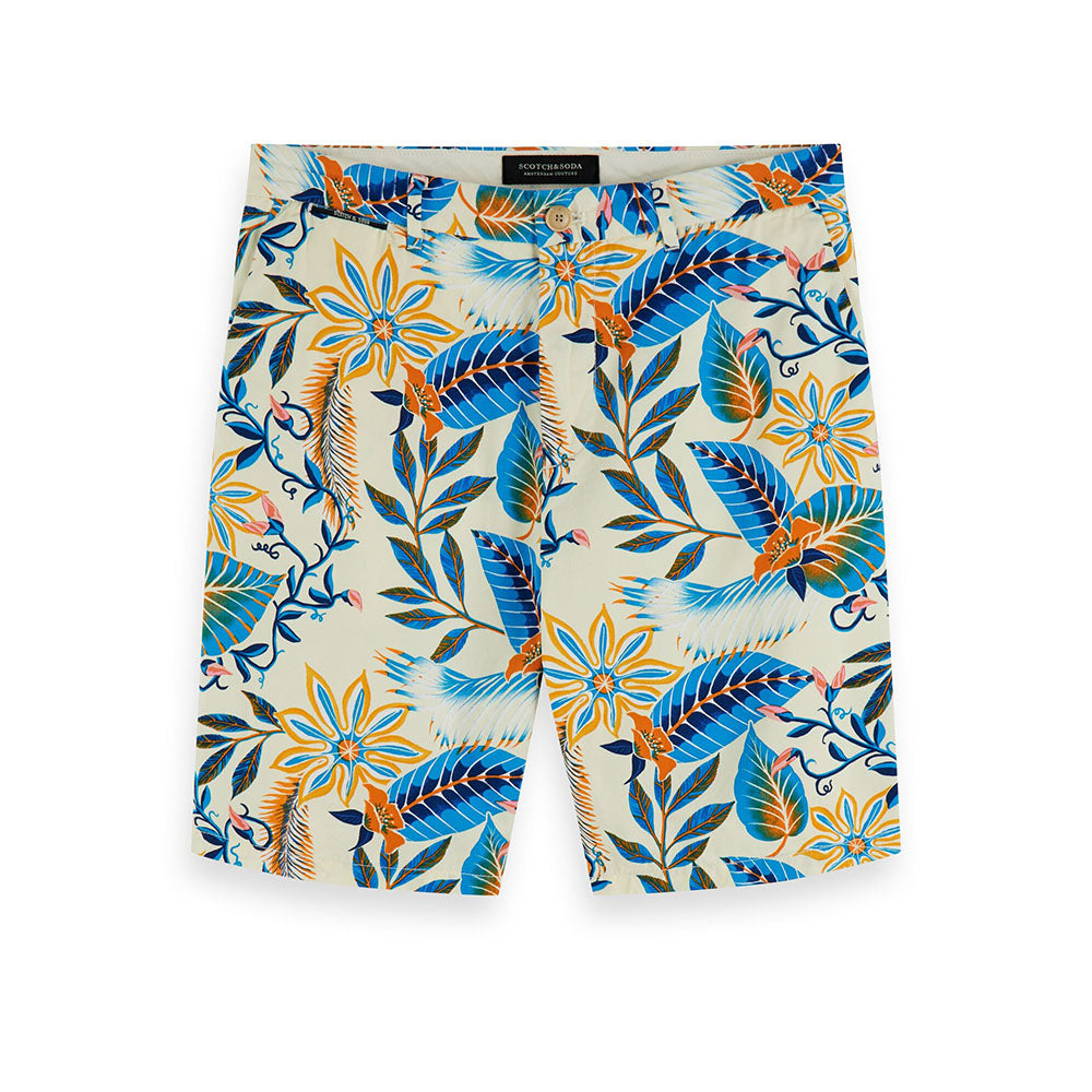 Scotch & Soda Botanic Print Chino Shorts