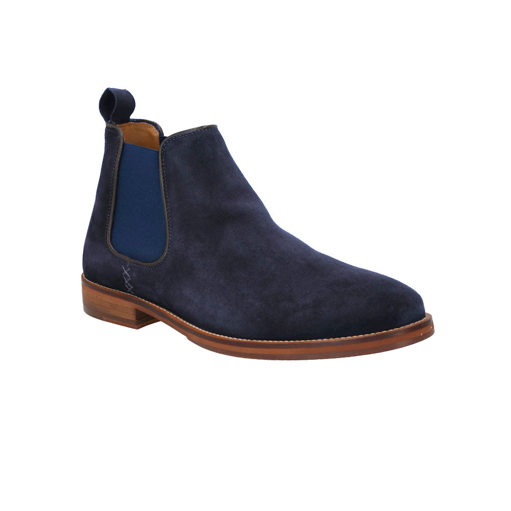 Scotch & Soda Vulcanite Suede Chelsea Boots - Navy Blue