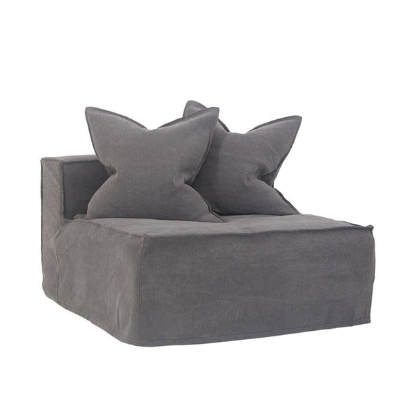 Hendrix One Seater Sofa Charcoal | Uniqwa Furniture