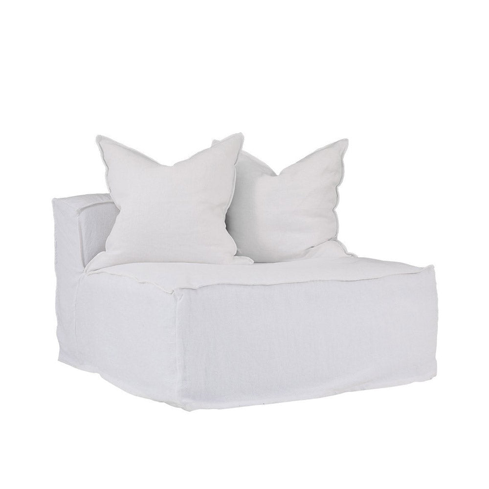 Hendrix One Seater Sofa White | Uniqwa Furniture