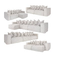 Hendrix One Seater Sofa Right Arm White | Uniqwa Furniture