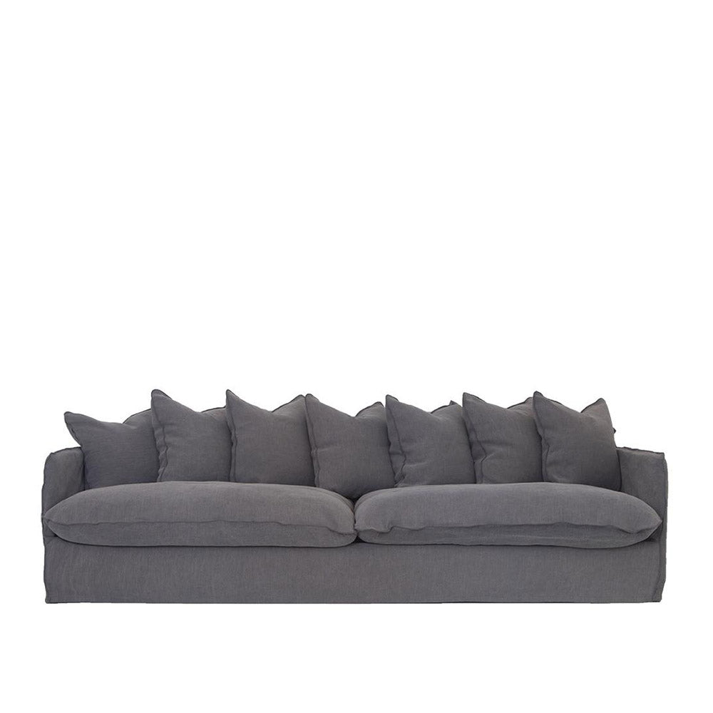 Singita Four Seater Sofa Charcoal | Uniqwa Furniture
