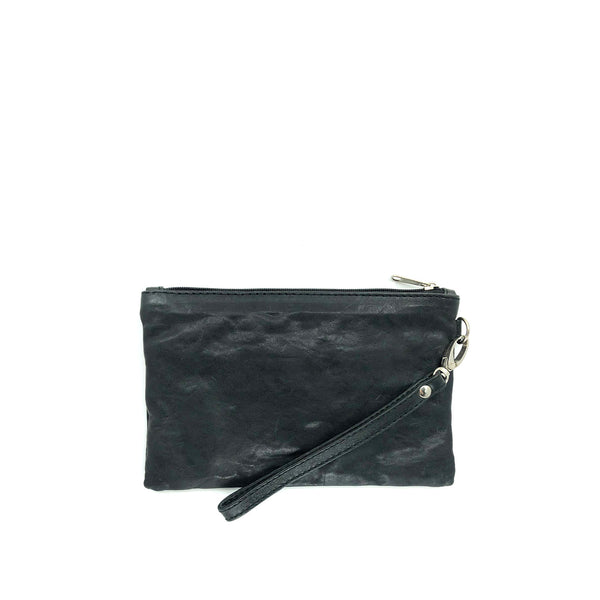 Austin Basics Black Leather Mini Clutch