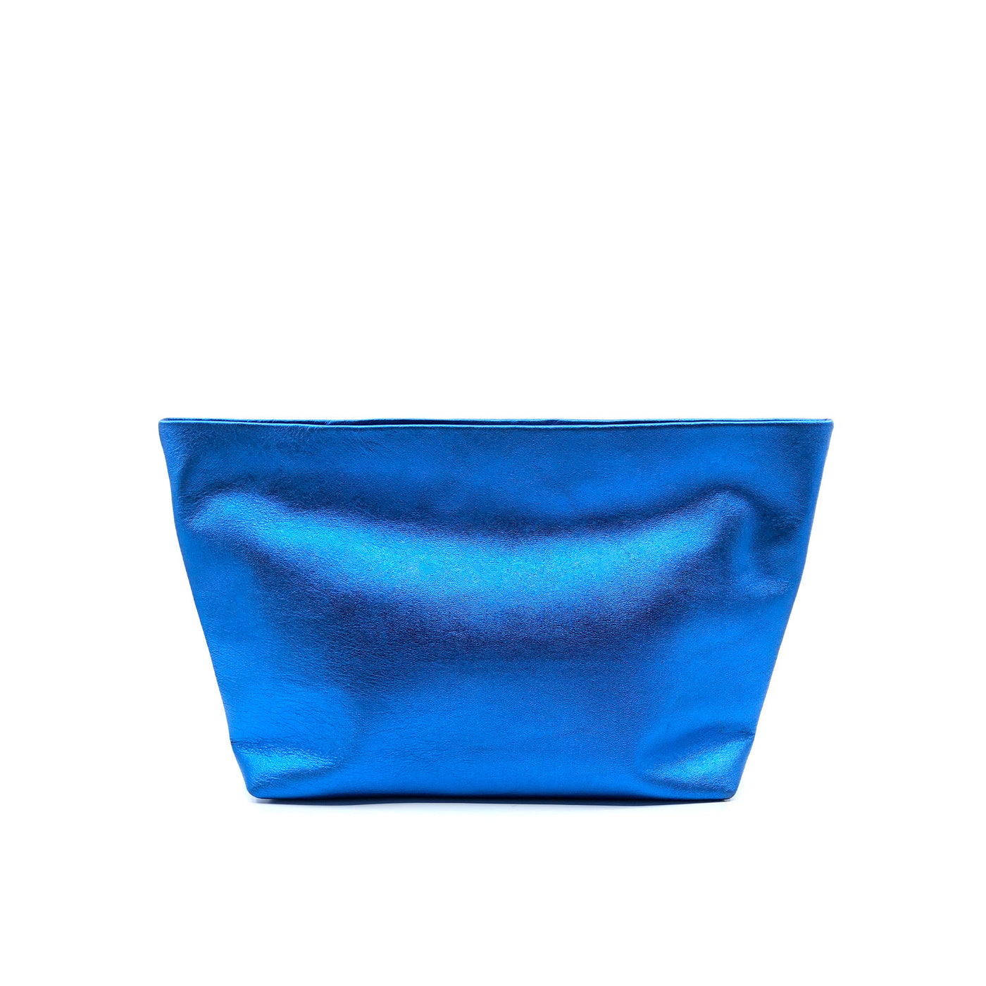 Austin Basics Deluxe Blue Leather Clutch